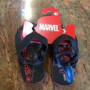 Boys Spider Man Sandals  Brand New Sz 9
